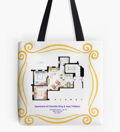 """Apartment of Chandler & Joey from """"FRIENDS"""" Tote Bag"""