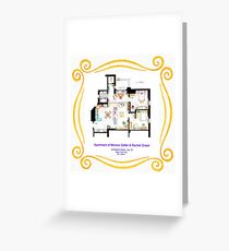 """Apartment of Monica and Rachel from """"FRIENDS"""" Greeting Card"""