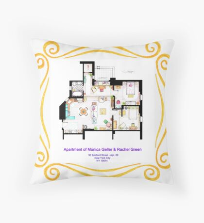 """Apartment of Monica and Rachel from """"FRIENDS"""" Throw Pillow"""