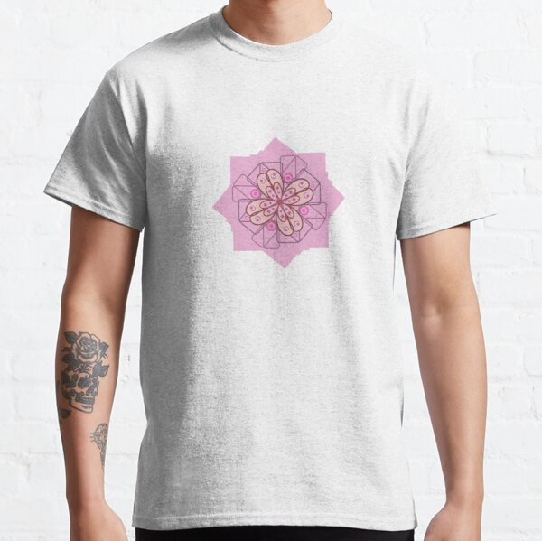 Abstract Flower Pattern Classic T-Shirt