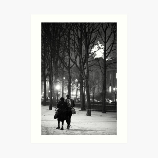From Paris with Snow Art Print