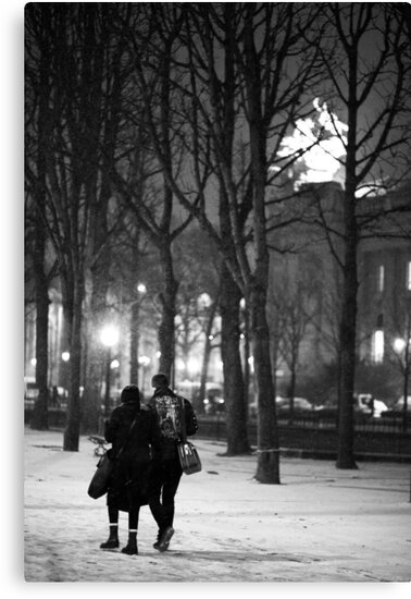 From Paris with Snow by Adnane Mouhyi