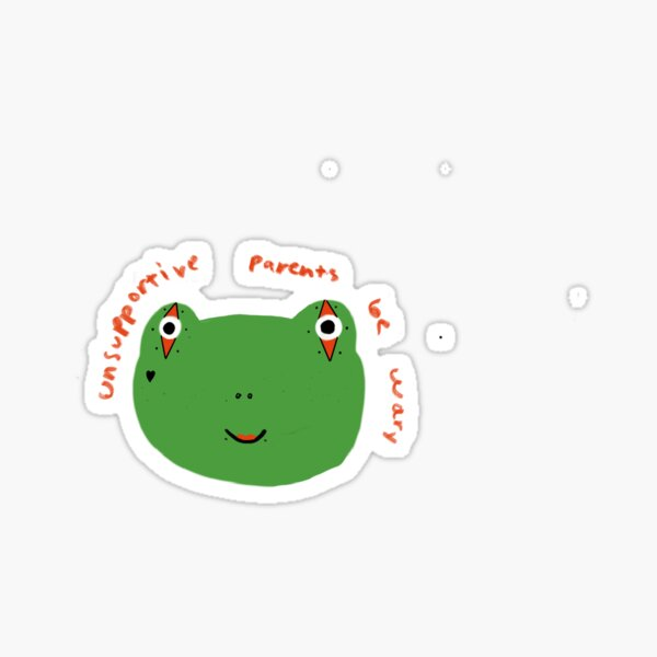 Punk frog is your parent now Sticker