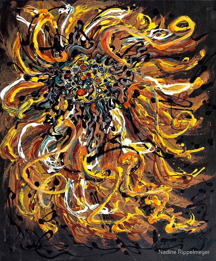 Textured Gold Sunflower by Nadine Rippelmeyer