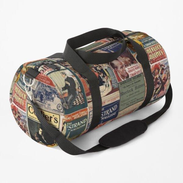 Sherlock Holmes - Vintage Magazines Duffle Bag