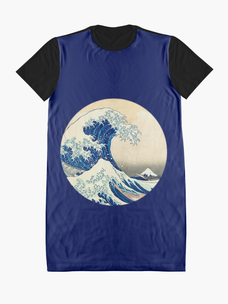 Alternate view of The Great Wave Off Kanagawa Graphic T-Shirt Dress