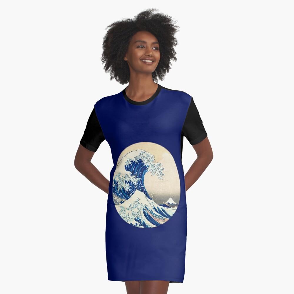 The Great Wave Off Kanagawa Graphic T-Shirt Dress