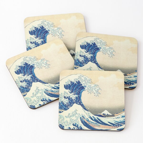 The Great Wave Off Kanagawa Coasters (Set of 4)