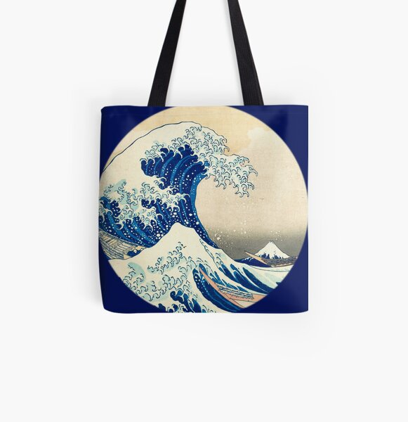 The Great Wave Off Kanagawa All Over Print Tote Bag