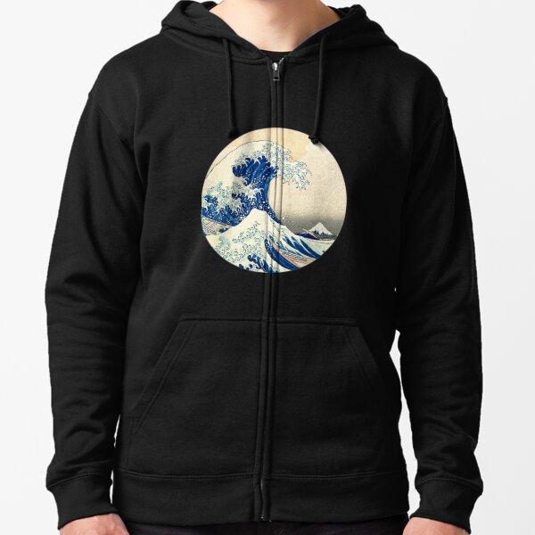 The Great Wave Off Kanagawa Zipped Hoodie
