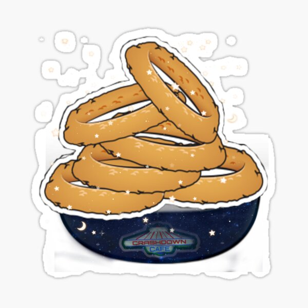 Roswell tv show Roswell cafe space onion rings  Sticker