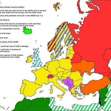 XXIst century European and surroundings map by jonybigude