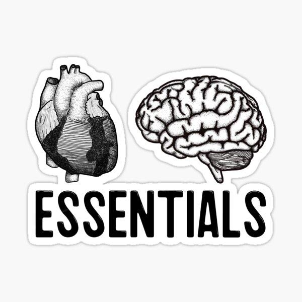 Essentials: Heart and brain Sticker