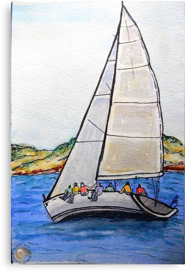 Sailing the Bay by DebbieJune