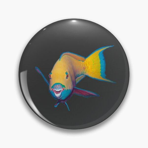 Papageifisch | Wie grell geschminkt |  Button