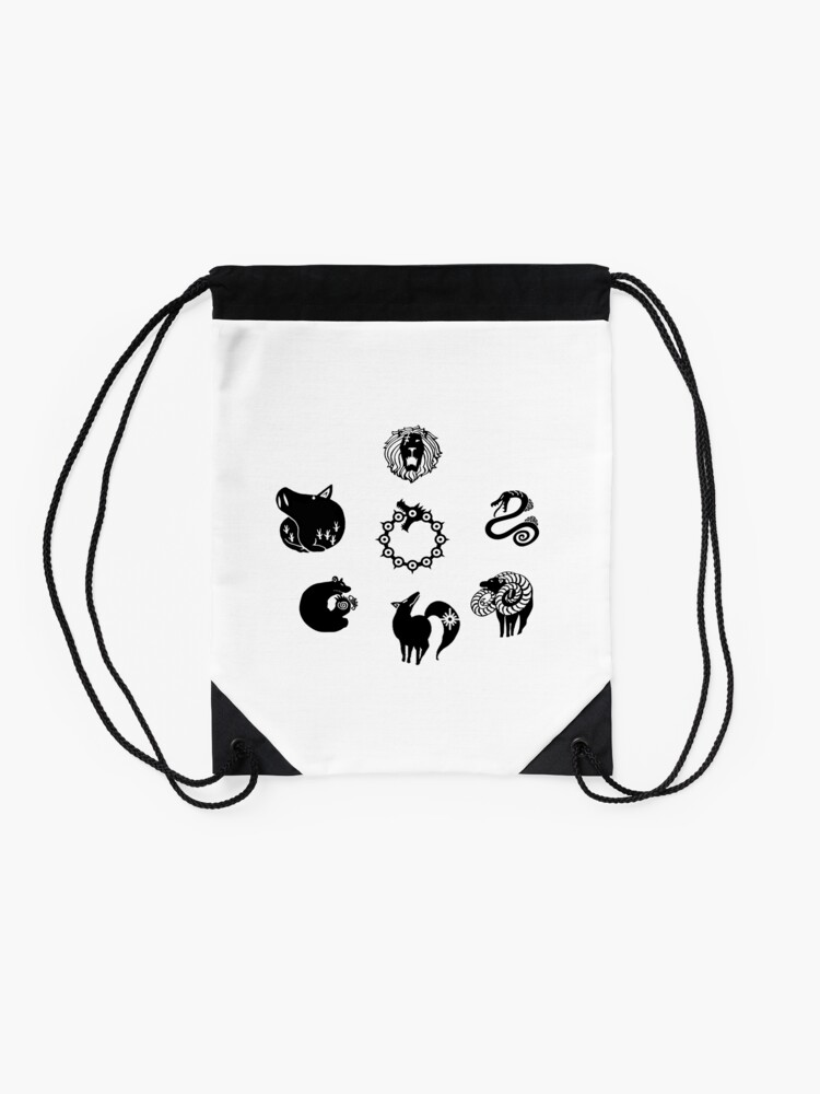 Alternate view of The Seven Deadly Sins Drawstring Bag