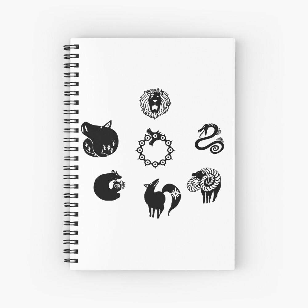 The Seven Deadly Sins Spiral Notebook