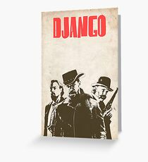 Django Unchained illustration Wild West Style Poster Greeting Card
