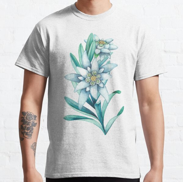 Watercolor edelweiss  Classic T-Shirt