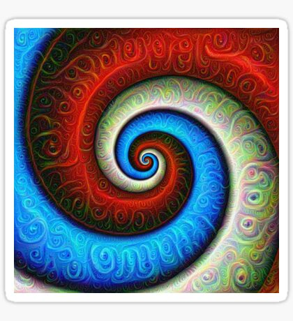 #DeepDream Color Fibonacci Visual Areas Sticker