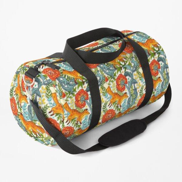 Art Nouveau Foxes  Duffle Bag