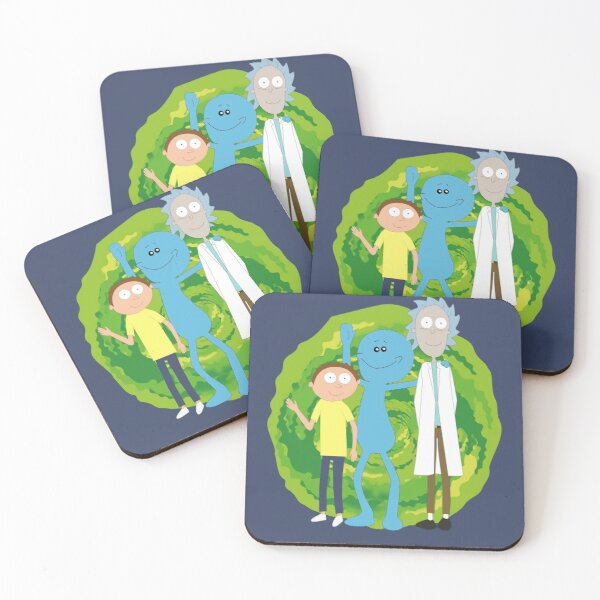 Rick and Morty and Mr. Meeseeks Coasters (Set of 4)