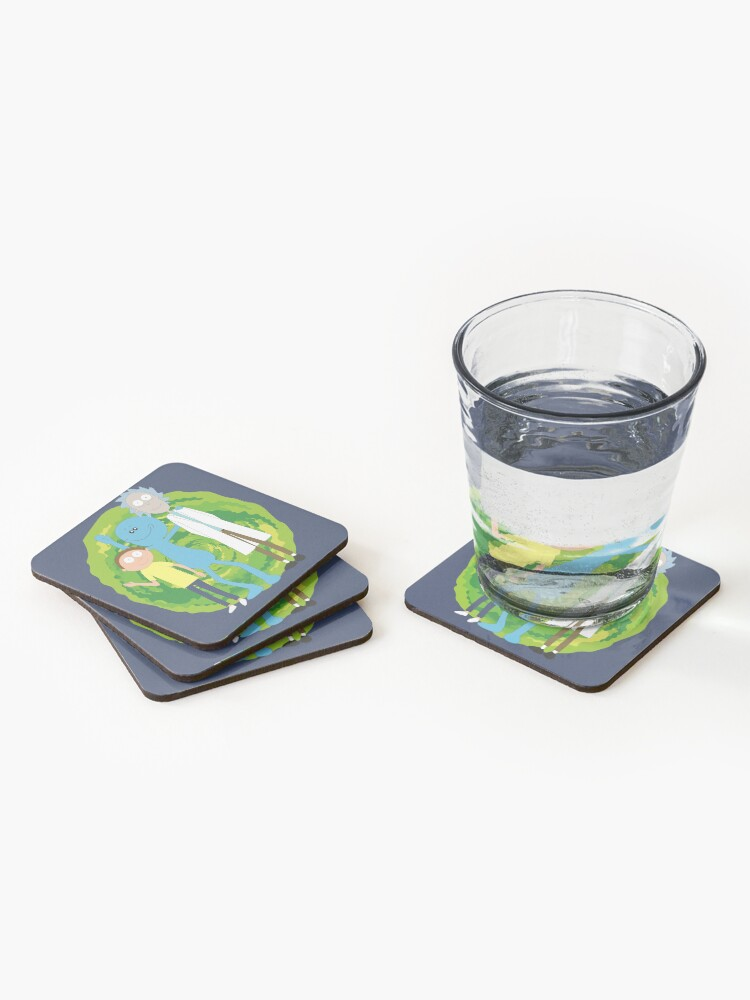 Alternate view of Rick and Morty and Mr. Meeseeks Coasters (Set of 4)