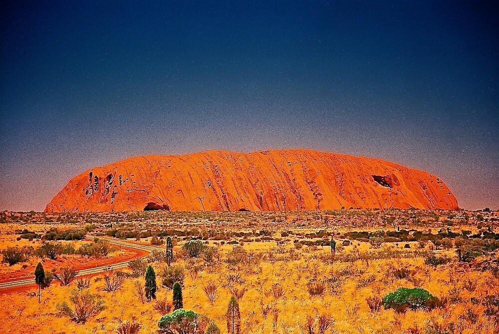 The Big Rock, Uluru by AndyFeltonPix