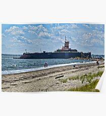 Compass Rose Beach Rhode Island Poster