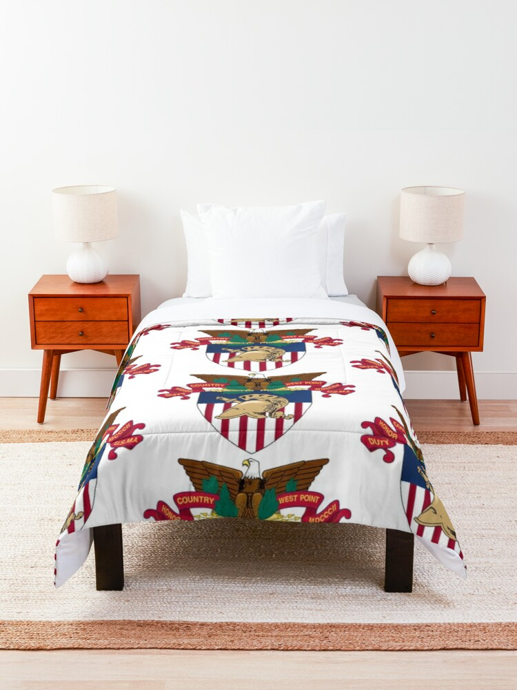 """Alternate view of United States Military Academy (USMA) - """"West Point"""" Comforter"""