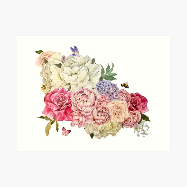 Bouquet of Flowers Art Print