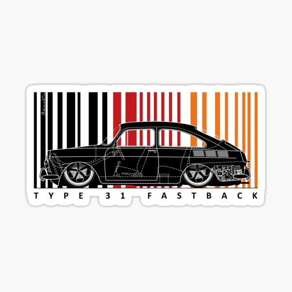 Aircooled 31 fastback Sticker