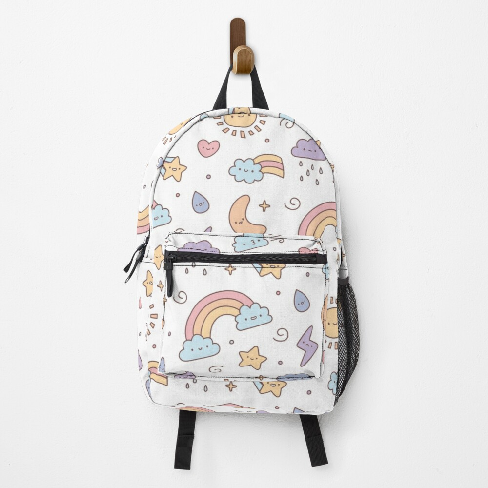Cute Pastel Weather Doodles Backpack