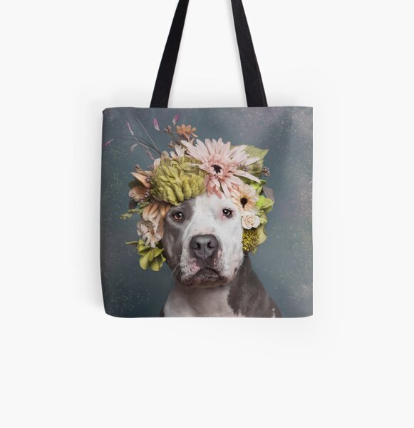 Flower Power, Pickles All Over Print Tote Bag