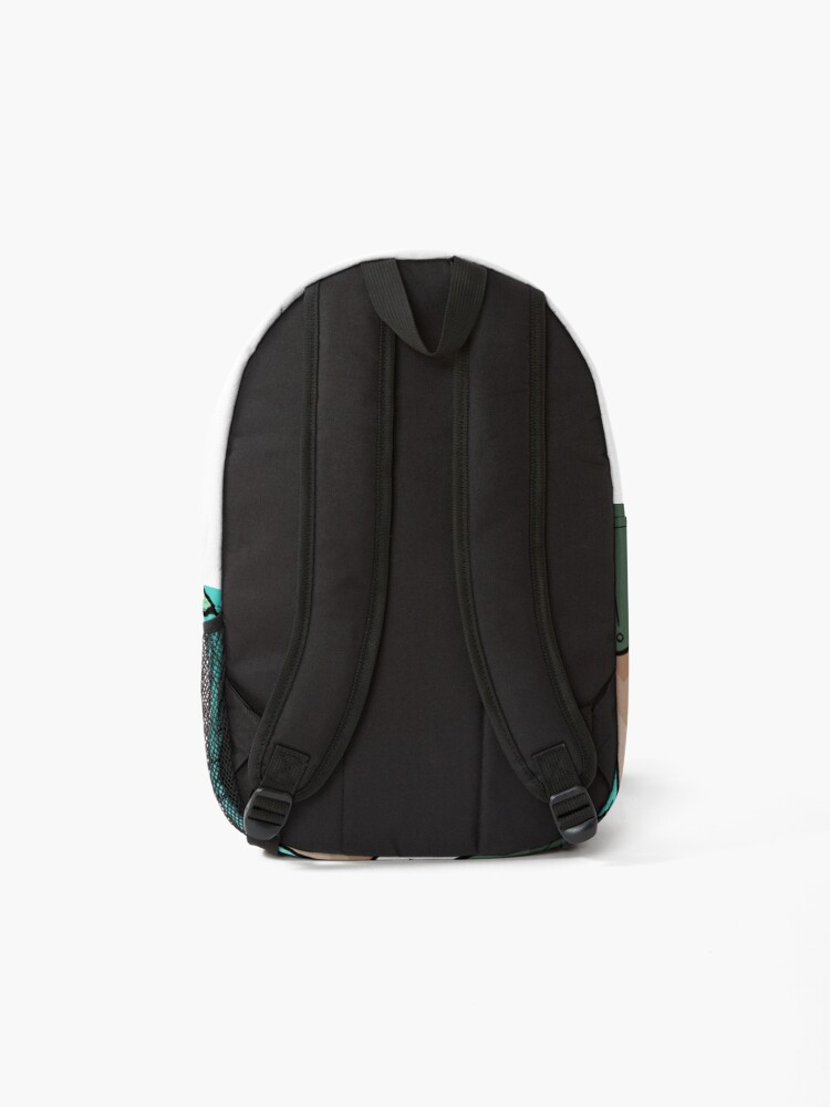 Alternate view of Green jungle leaves Backpack
