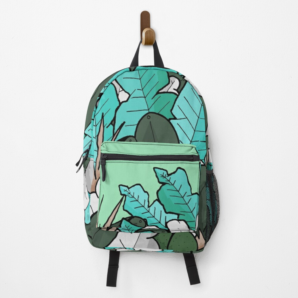 Green jungle leaves Backpack