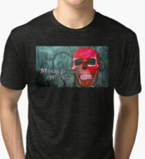 Metal Jesus Rocks Tri-blend T-Shirt