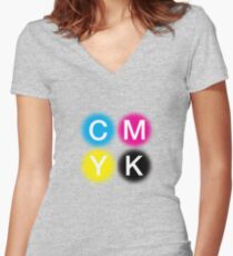 CMYK 2 Women's Fitted V-Neck T-Shirt