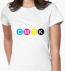 CMYK 3 Womens Fitted T-Shirt