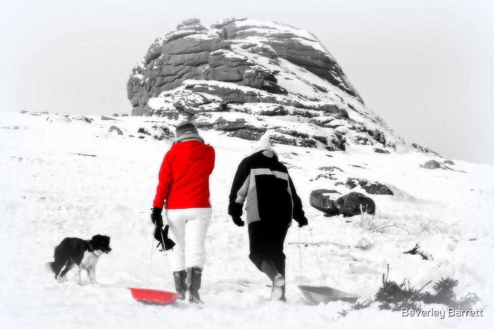 Winter at Haytor by Beverley Barrett