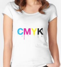 CMYK 6 Women's Fitted Scoop T-Shirt