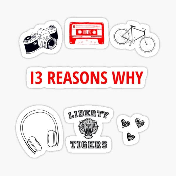 """basé sur le roman de 2007 """"Treize raisons pour lesquelles"""" par Jay Asher. Sticker"""