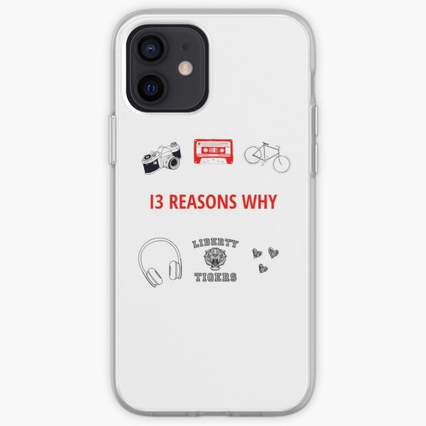 "basado en la novela de 2007 ""Thirteen Reasons Why"" de Jay Asher. Funda blanda para iPhone"