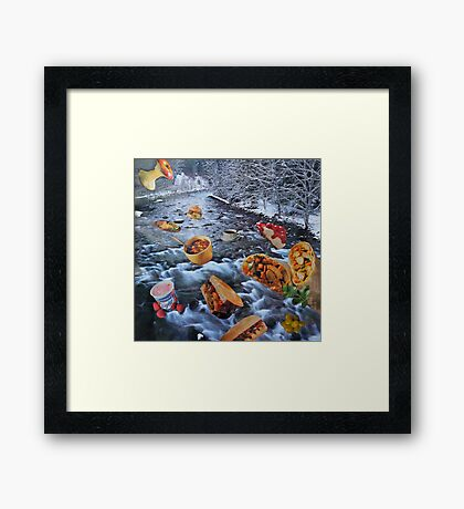 There Goes My Lunch! Framed Print