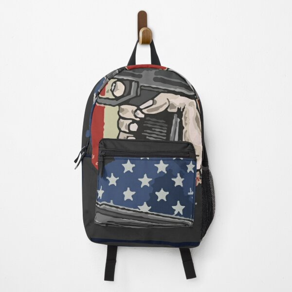 American hand use weapon illustration vector Backpack