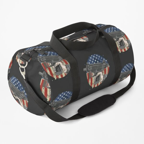 American hand use weapon illustration vector Duffle Bag