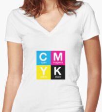 CMYK 11 Women's Fitted V-Neck T-Shirt
