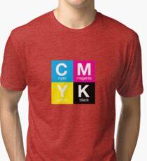 CMYK 11 Tri-blend T-Shirt