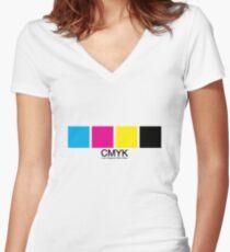 CMYK 15 Women's Fitted V-Neck T-Shirt
