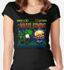 Mario Kombat II Women's Fitted Scoop T-Shirt